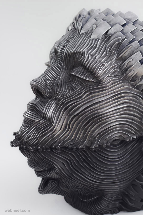 man steel scultpure by gil bruvel