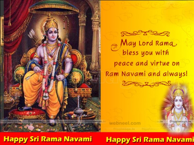 ram navami beautiful wishes greeting card