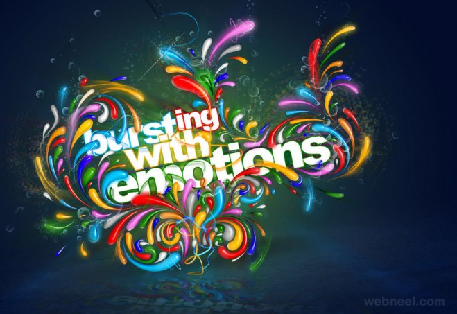 typography art colorful