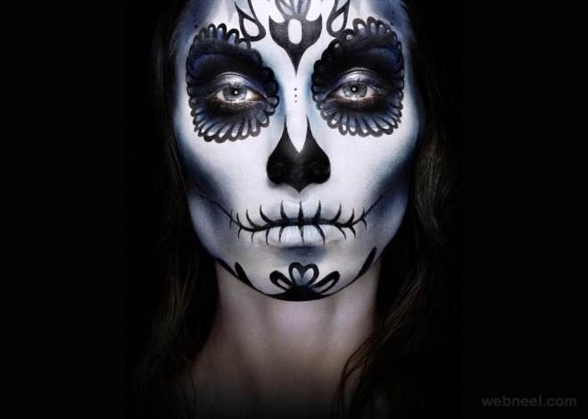 face painting skull dimitri