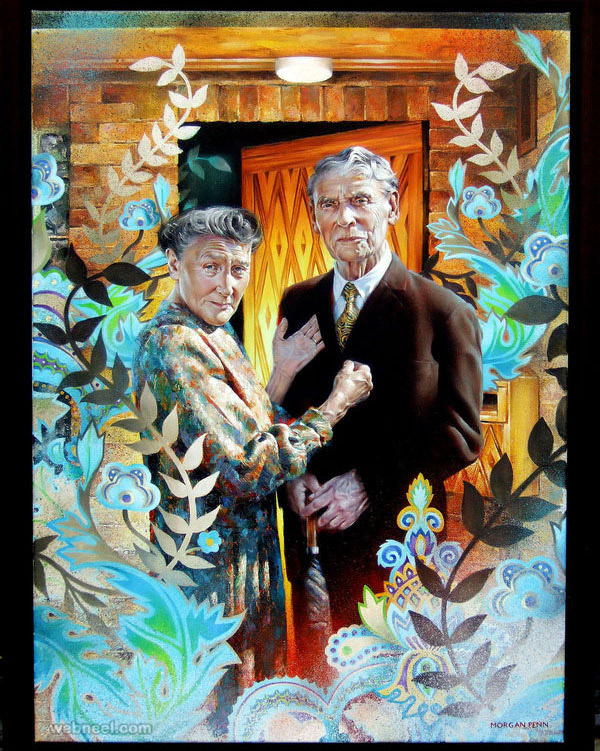old couple painting morgan penn