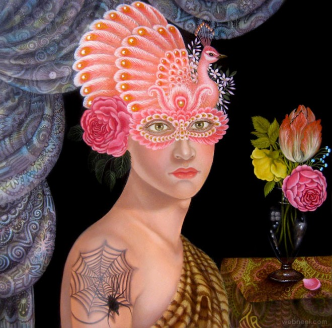 surreal oil painting colette