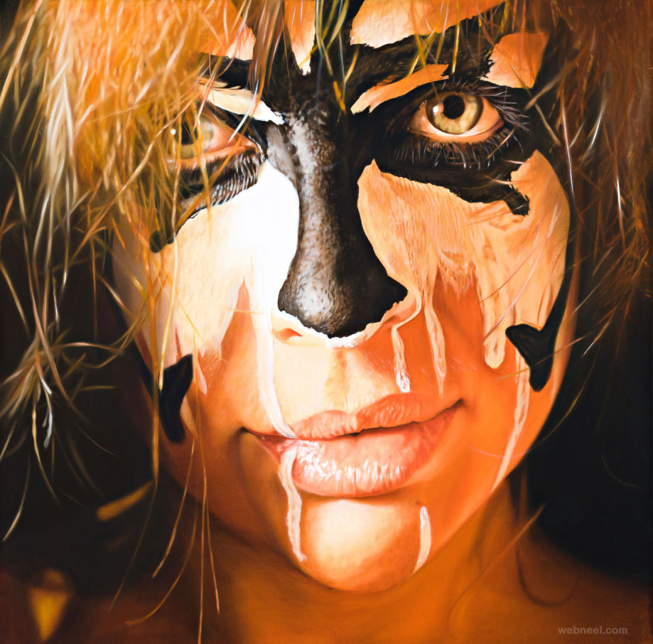 oil paintings face paint by jkb fletcher