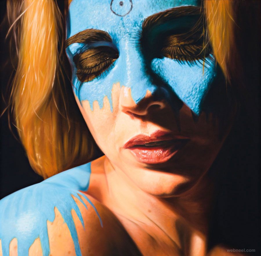 oil paintings face paint by jkb