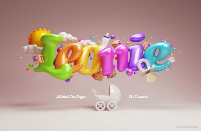 Typography Art 3d Design