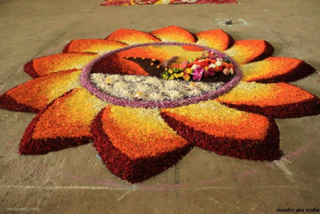 25 Most Beautiful Pookalam Designs For Onam