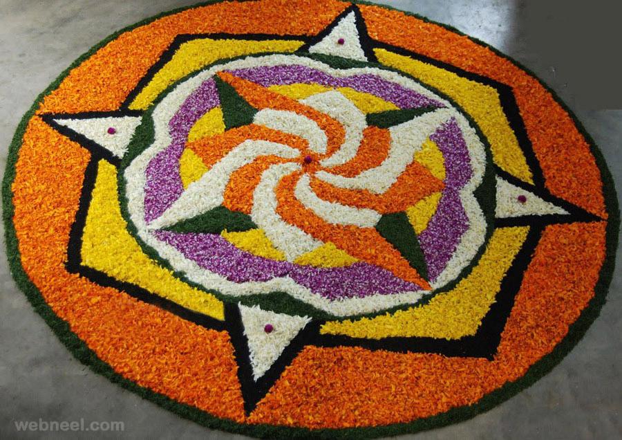 pookalam beautiful pattern