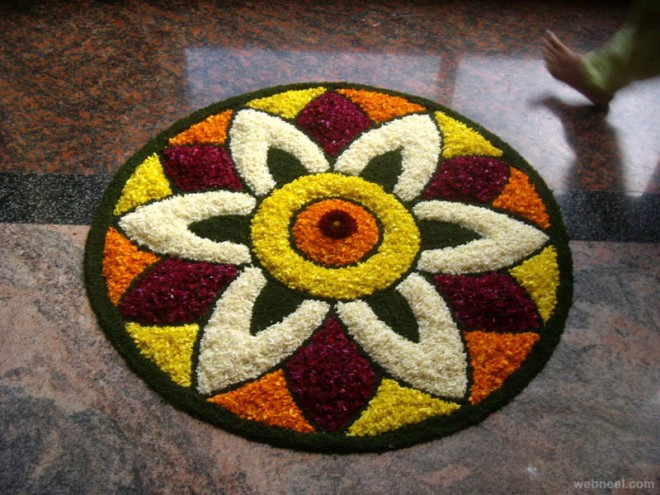 Best Designs Outline Onam Kalam Images for Free Download
