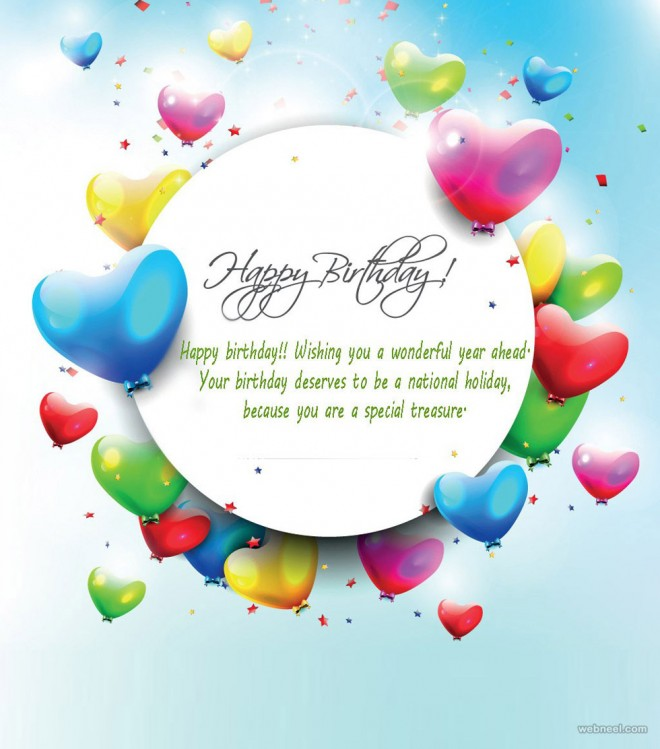50 Beautiful Happy Birthday Greetings card design examples – Beautiful Happy Birthday Cards