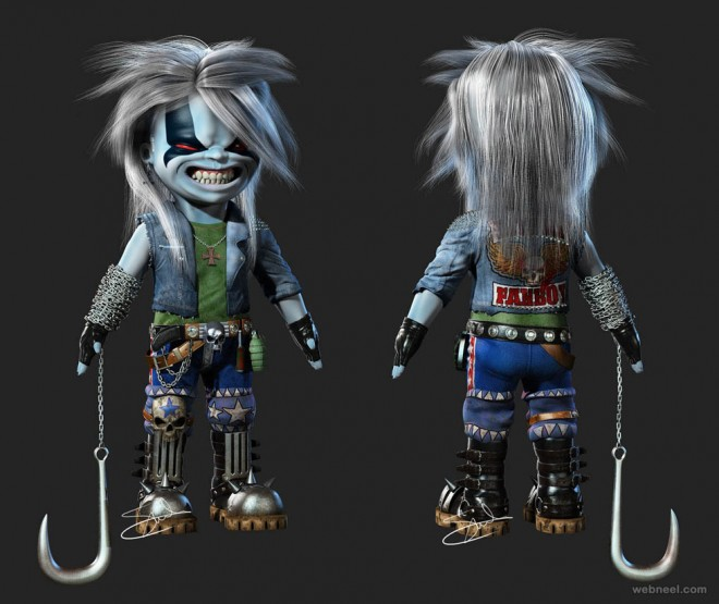 3d character lobo by salvo brullo