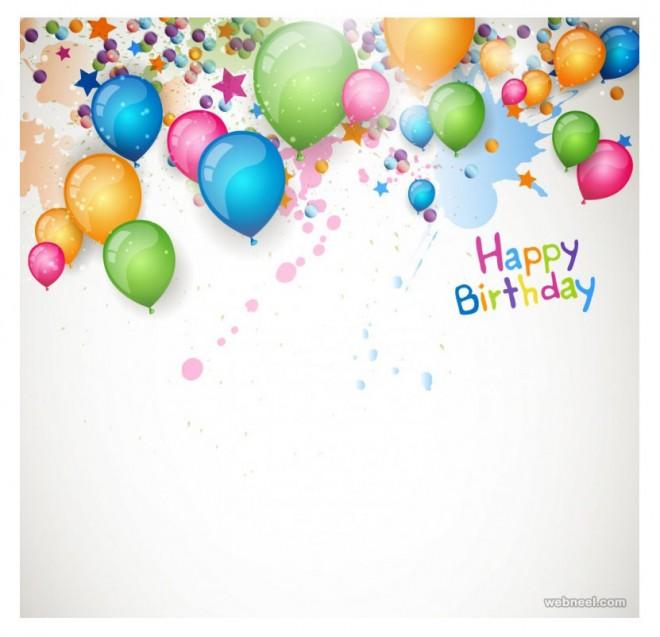 birthday greetings card design balloon