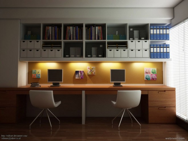 Elegant Home Office Design Idea