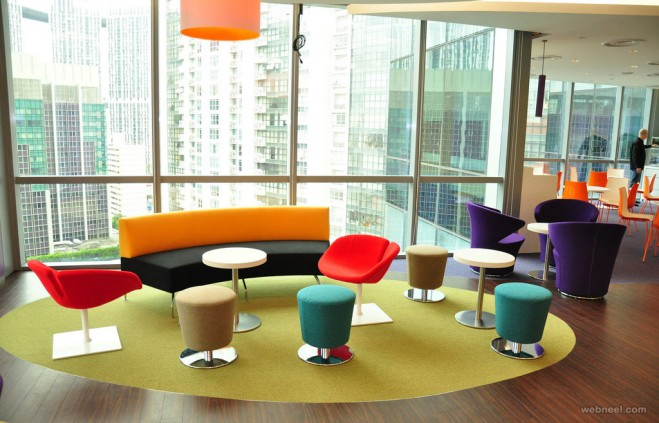 modern office design colorful reception modern office design colorful reception - Modern Office Design Ideas