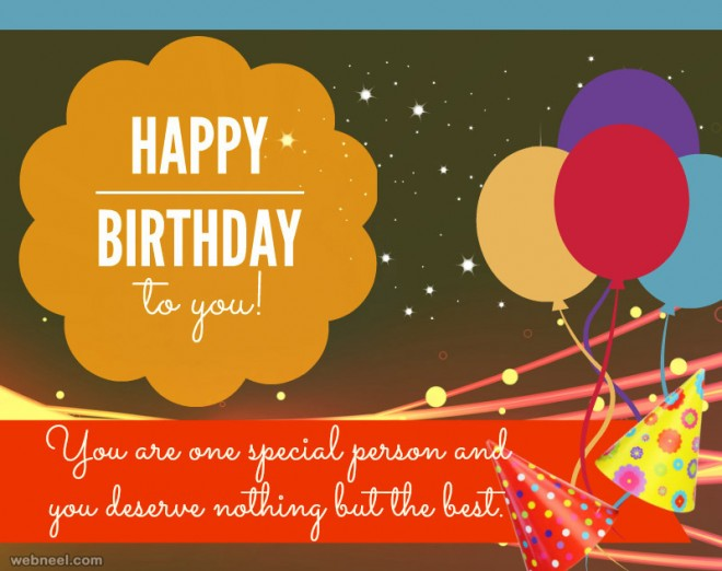 simple birthday greetings card design