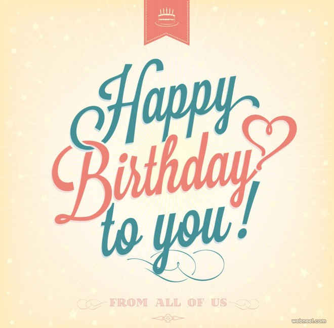 50 Beautiful Happy Birthday Greetings card design examples Part 2 – Happy Birthday Post Cards