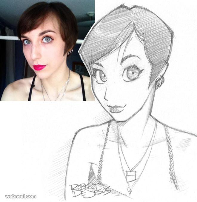 girl photo to cartoon