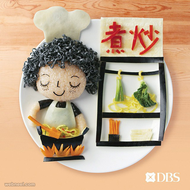 creative food art idea