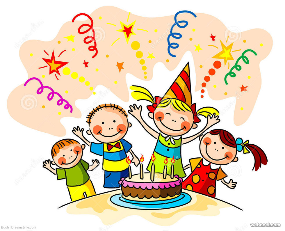 Kids Birthday Greetings Card Design 39