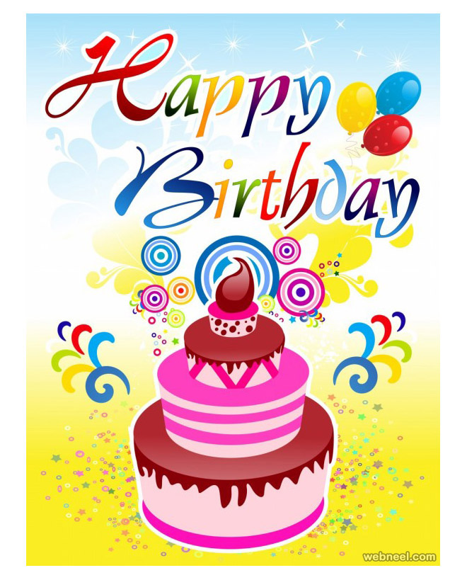 50 Beautiful Happy Birthday Greetings card design examples – Birthday Greetings Wishes