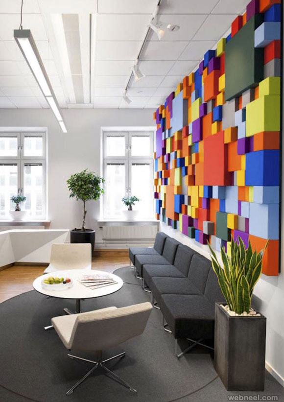 colorful modern office design idea