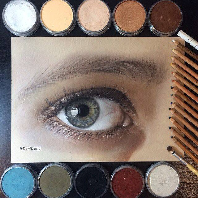 beautiful eye drawing by dowidalal2