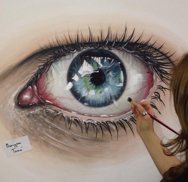 reaslitic eye painting by marigonatoma
