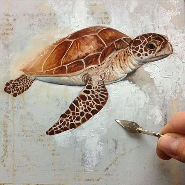 tortoise painting by bryanhollandarts