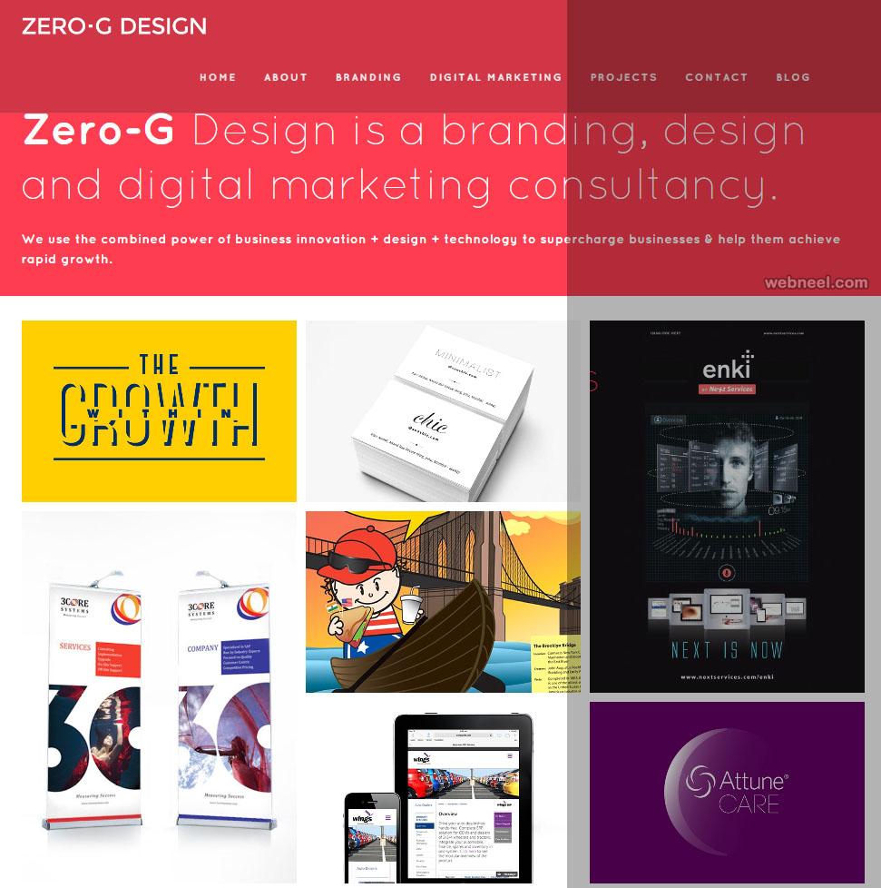 zerog design graphic design website