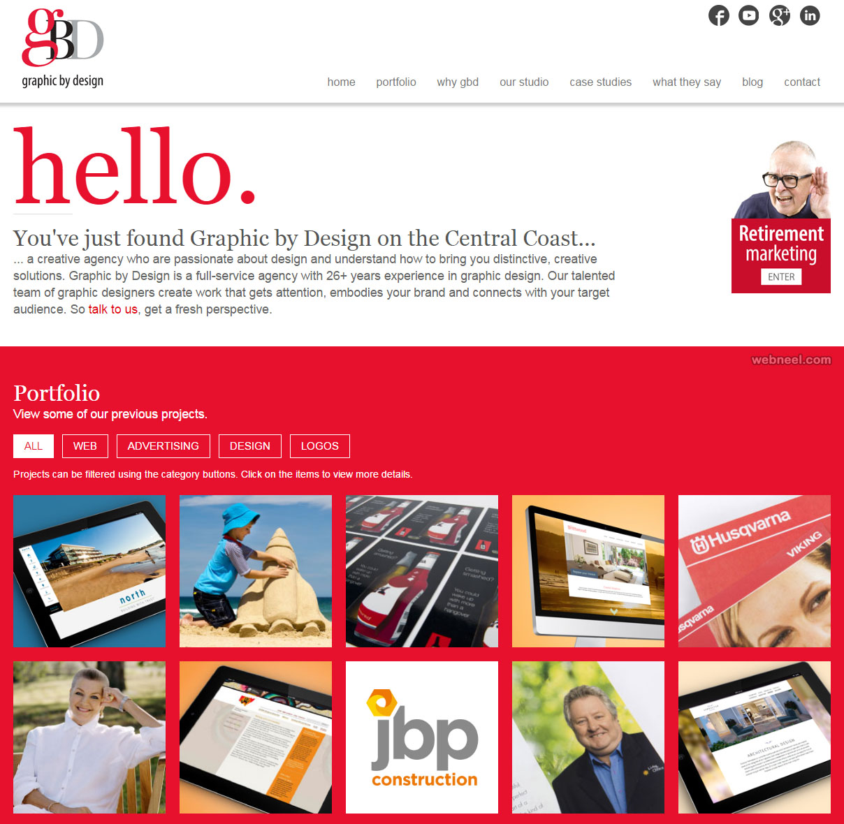 gbd graphic design website