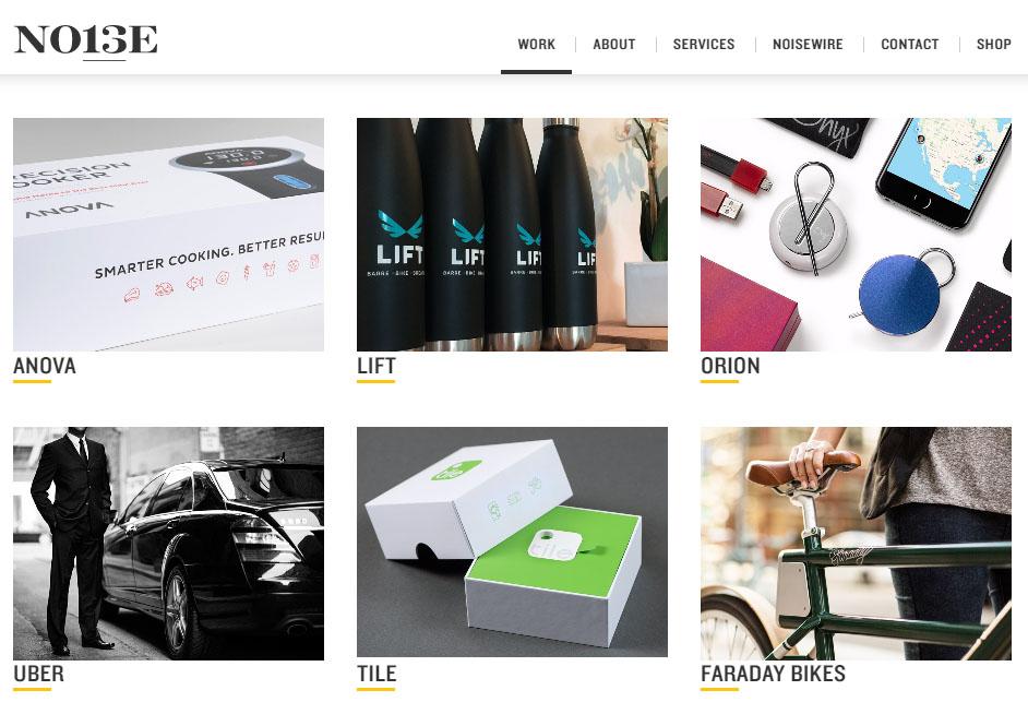 noise13 graphic design website