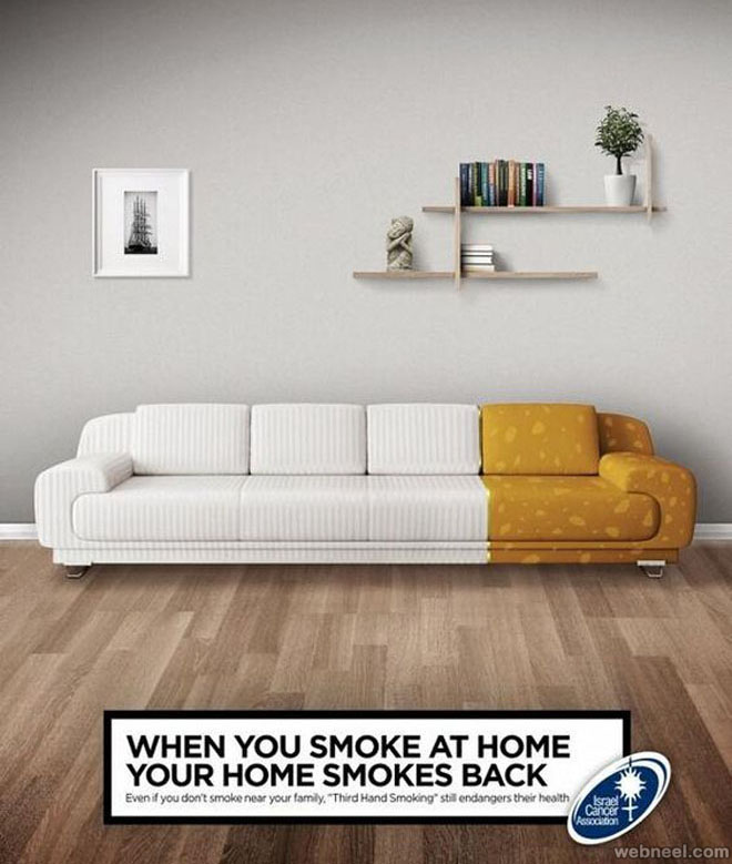 Smoke Sofa Subliminal Advertisement Advertising