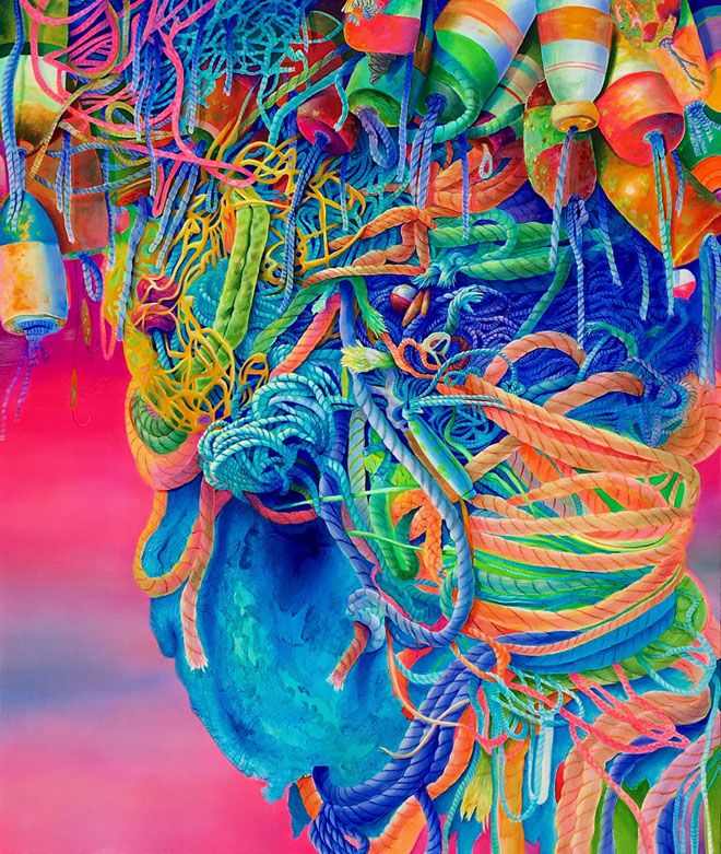 swirl oil painting