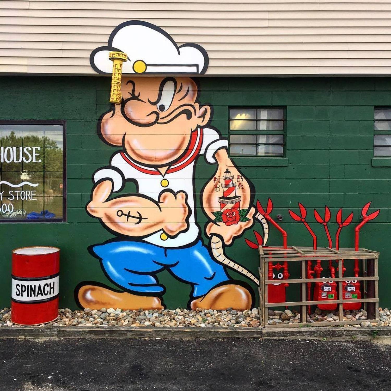 street art works popeye by tom bob