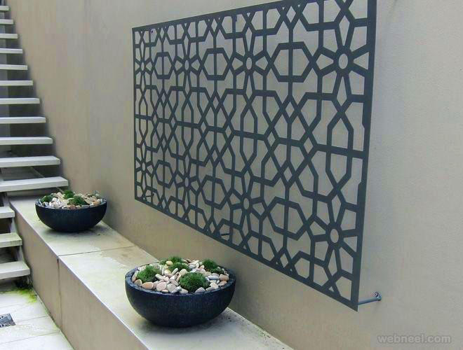 wall art outdoor metal sculpture