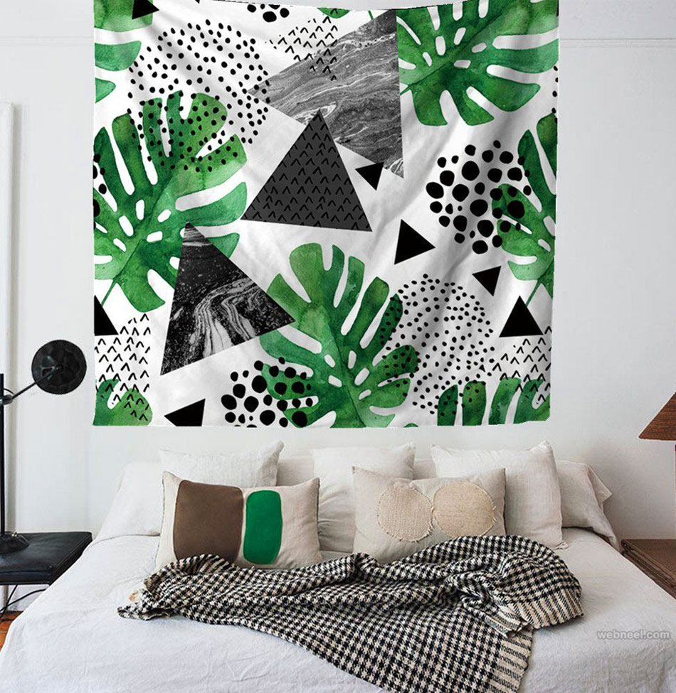 wall art bed room simple