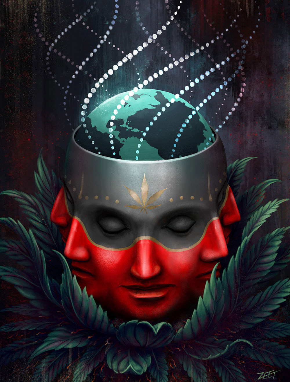 digital art oracle head by paul zeatier