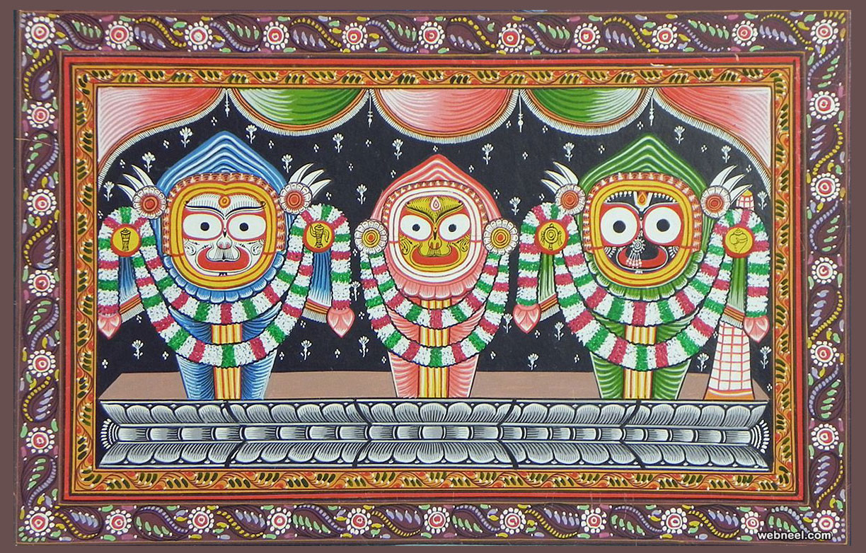 tussar paintings odisha lord jaganath