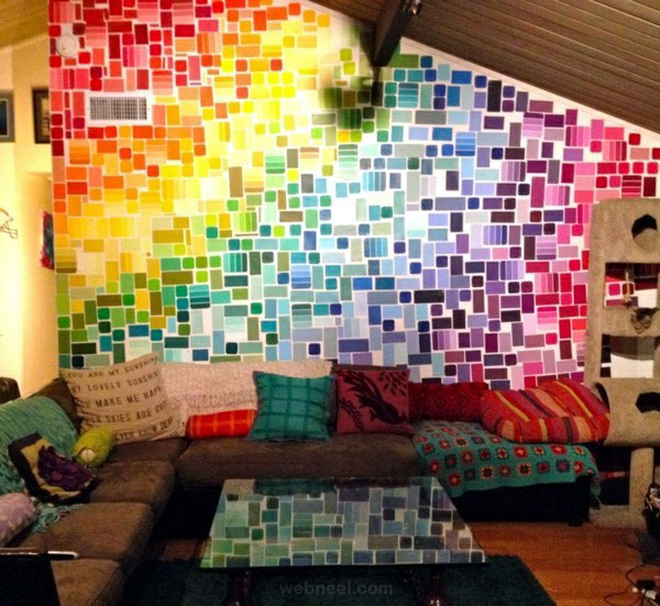 wall art living room colorful