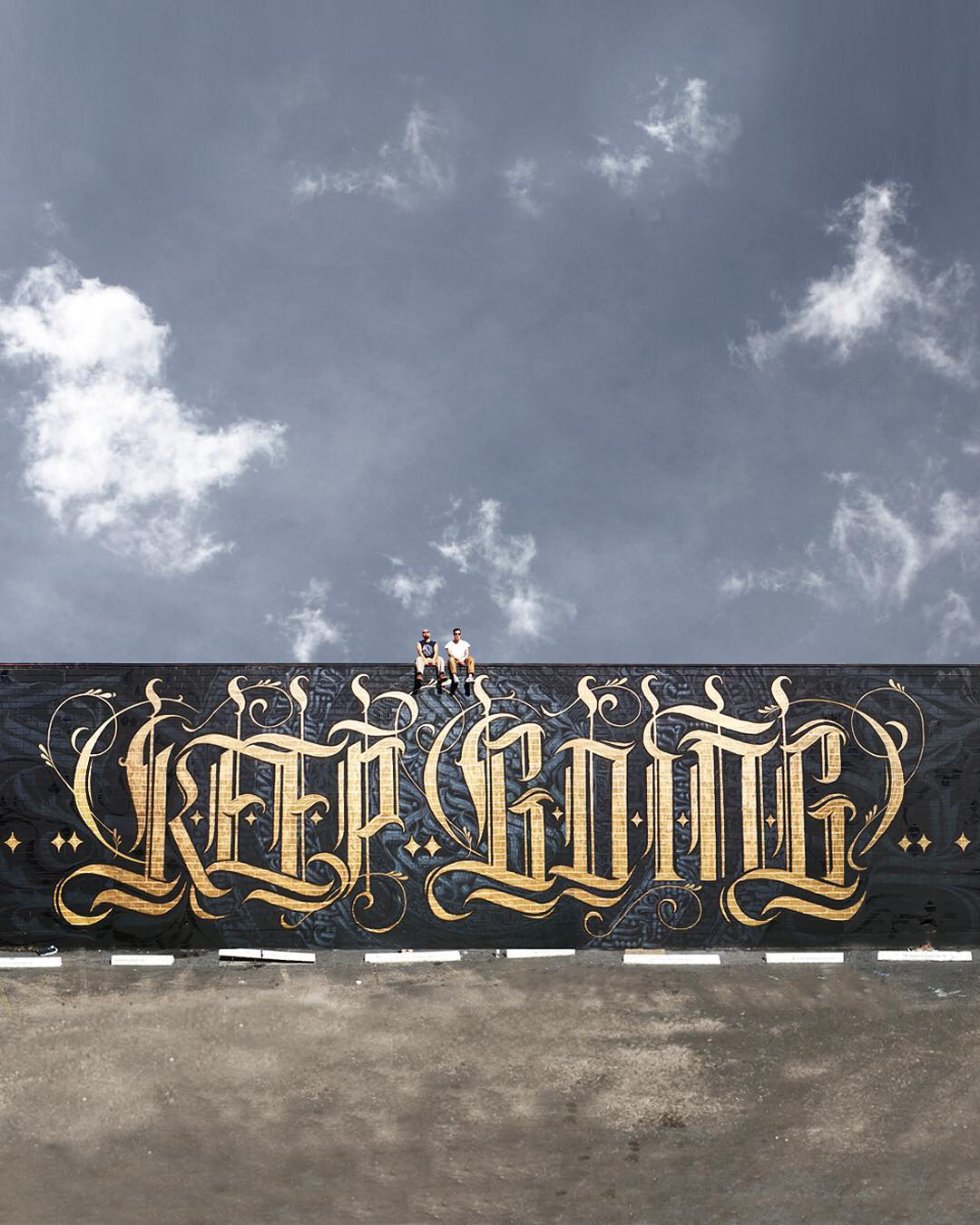 street art idea typography keep going