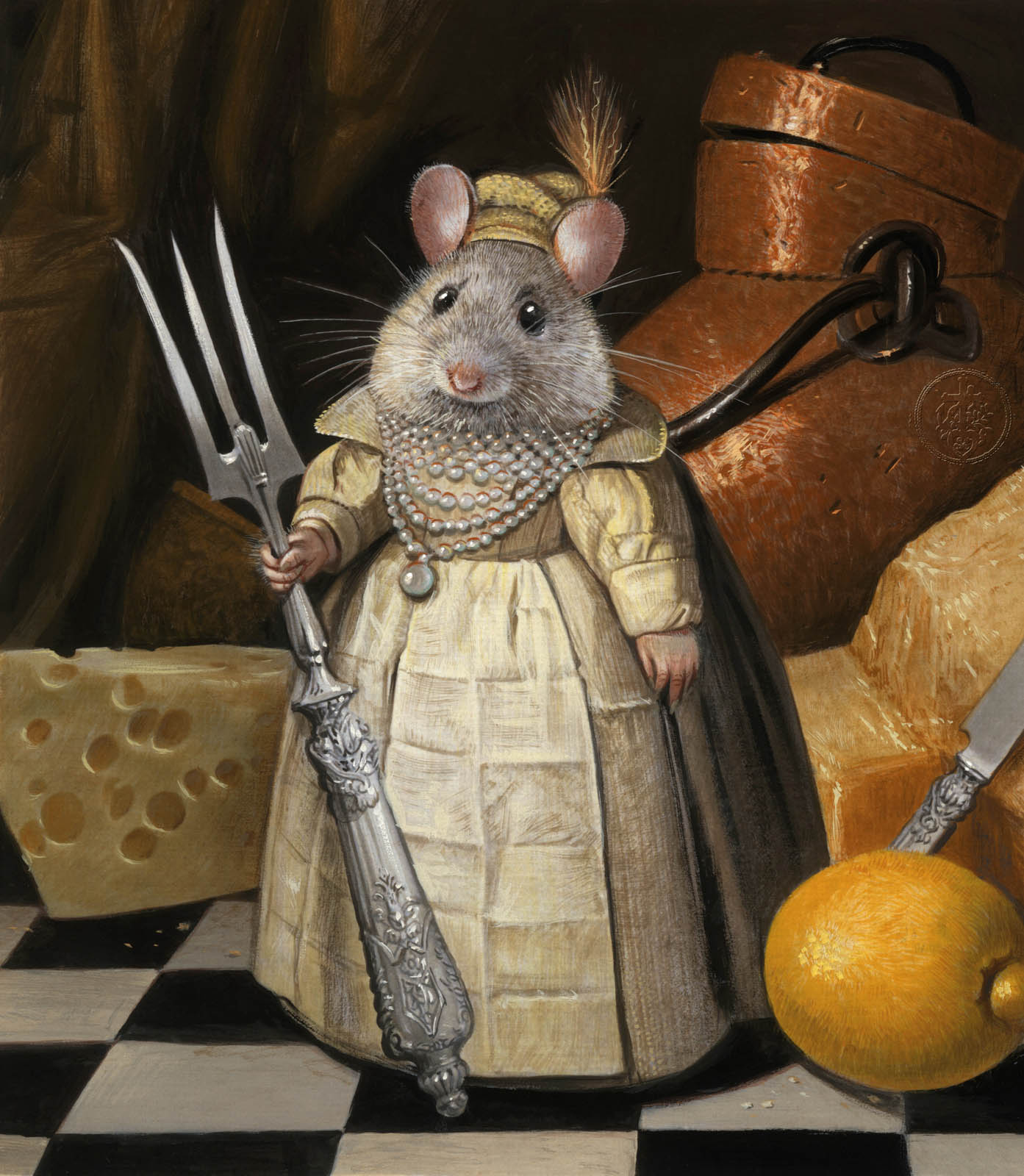 surreal painting rat
