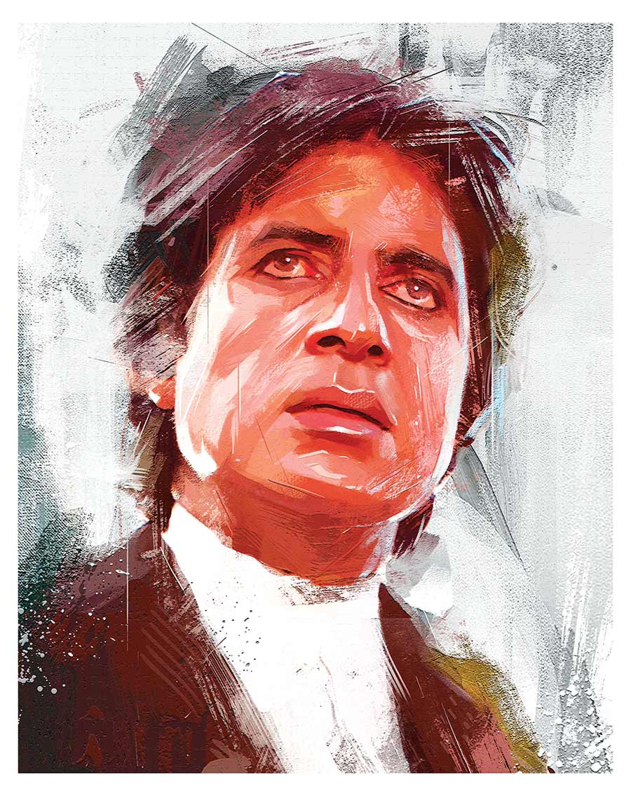 painting artwork amitabh bachan