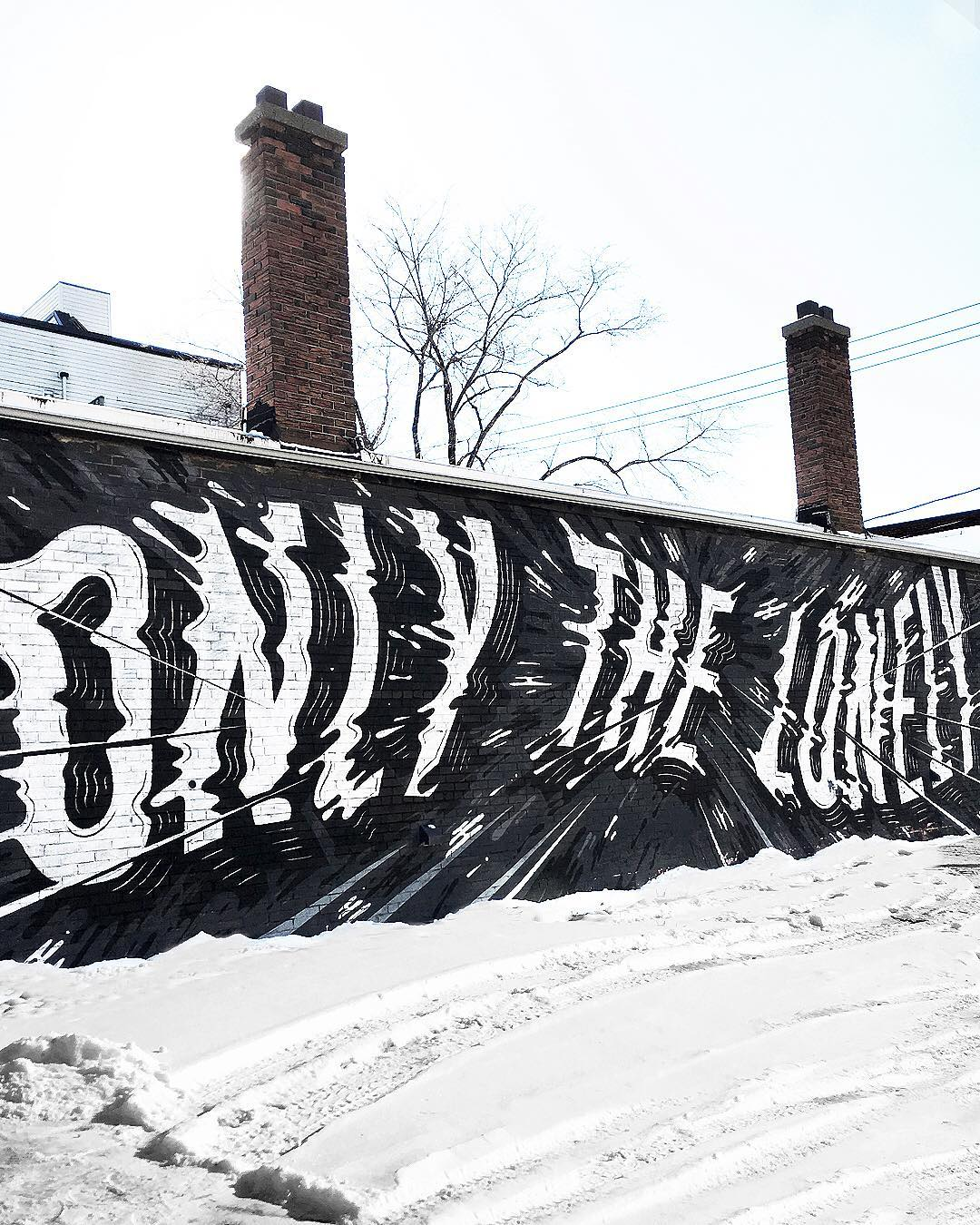 street art idea typography only lonely by ben johnston