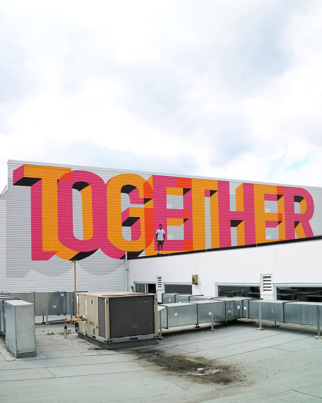 street art idea typography together by ben johnston