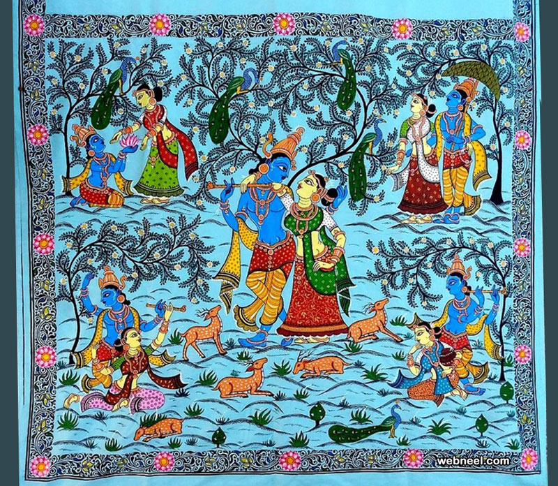 tussar paintings silk by smritiranjan