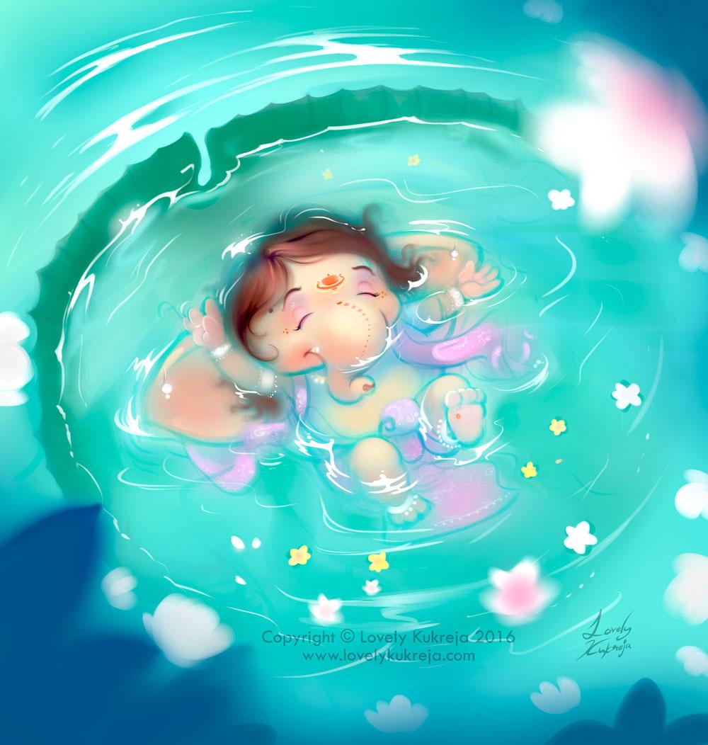 digital art illustration ganesh