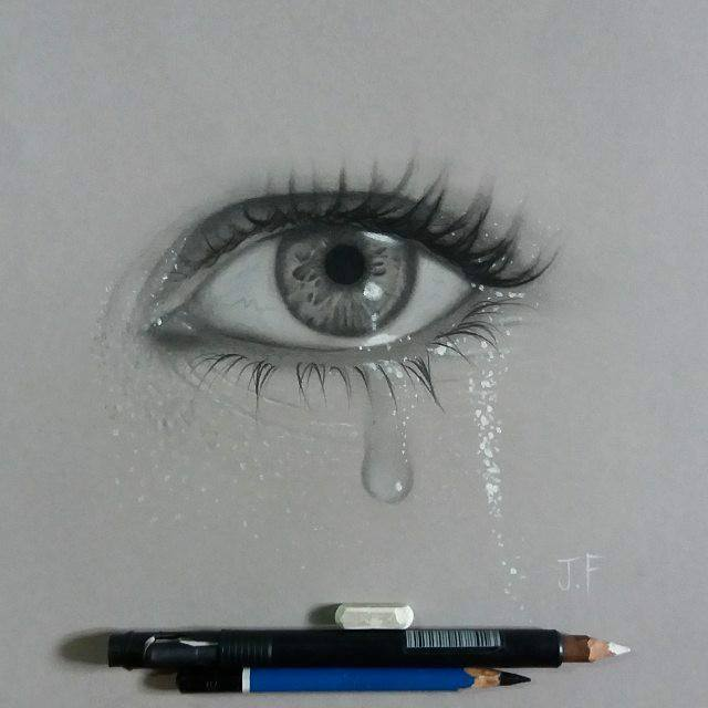 drawing of eyes tears by juliano ferreira