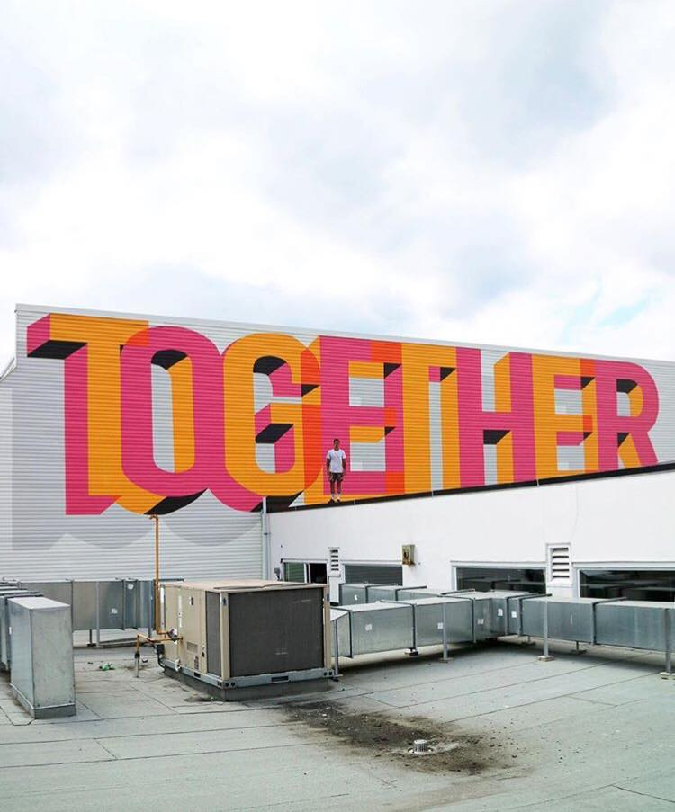 street art typography by ben johnston