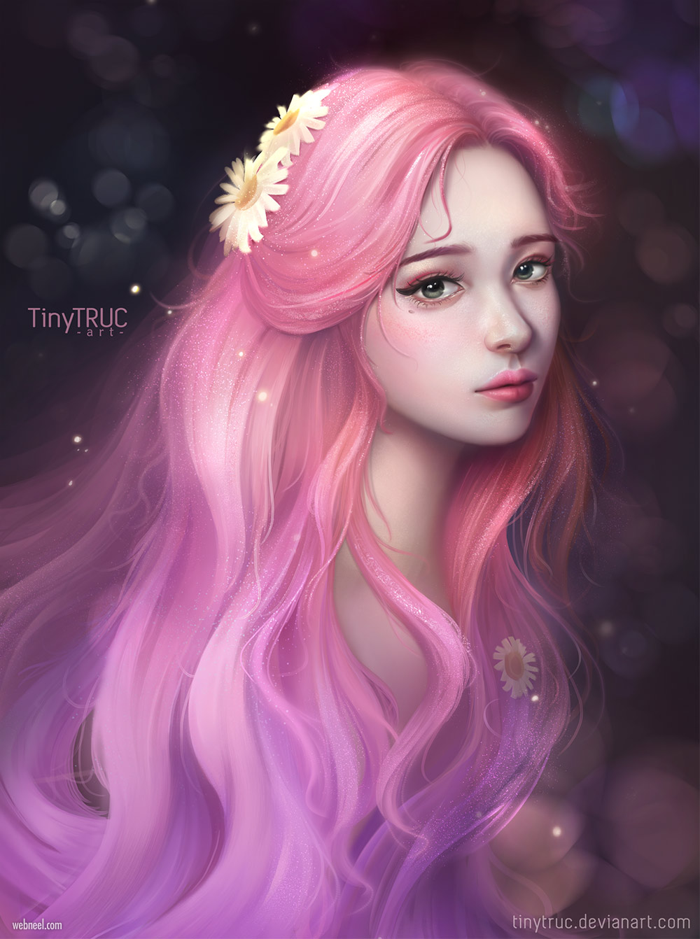 digital painting portrait by pinkie