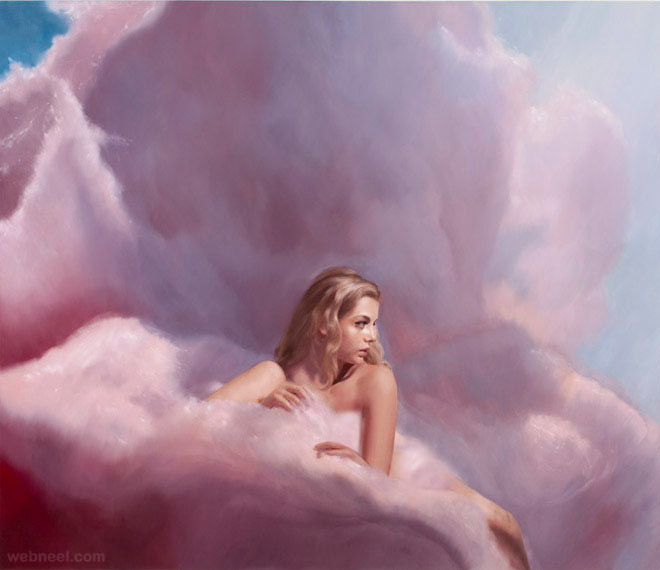 cotton candy painting by will cotton