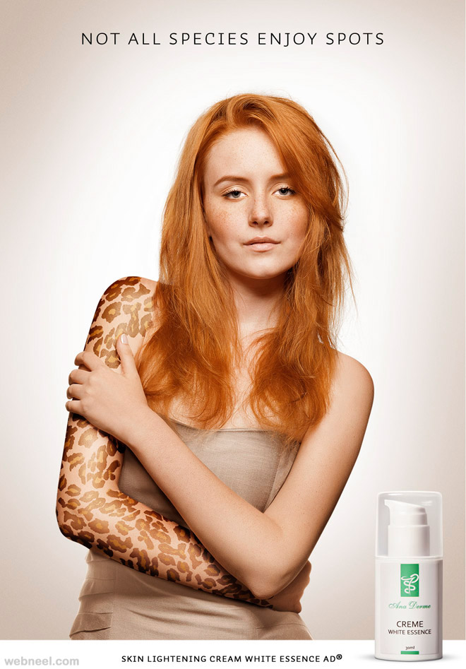 creative cosmetics advertising not all species enjoy spots ana derme